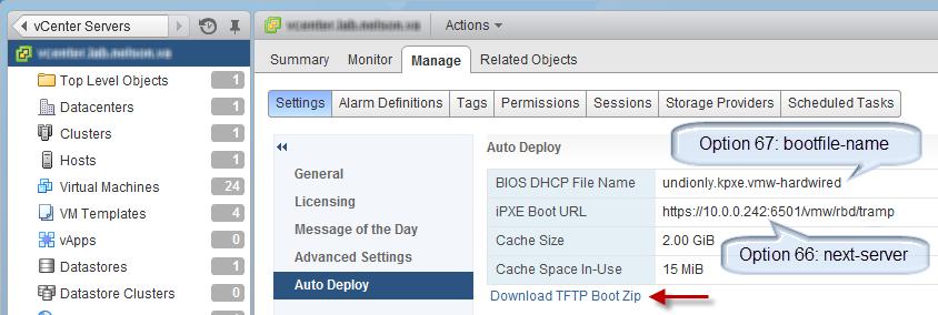Auto Deploy Deep Dive, Part 1: Auto Deploy, TFTP, DHCP
