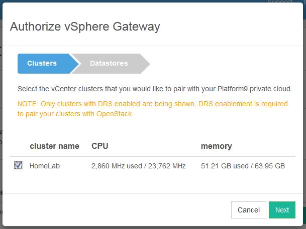 Platform9 5 Cluster Name